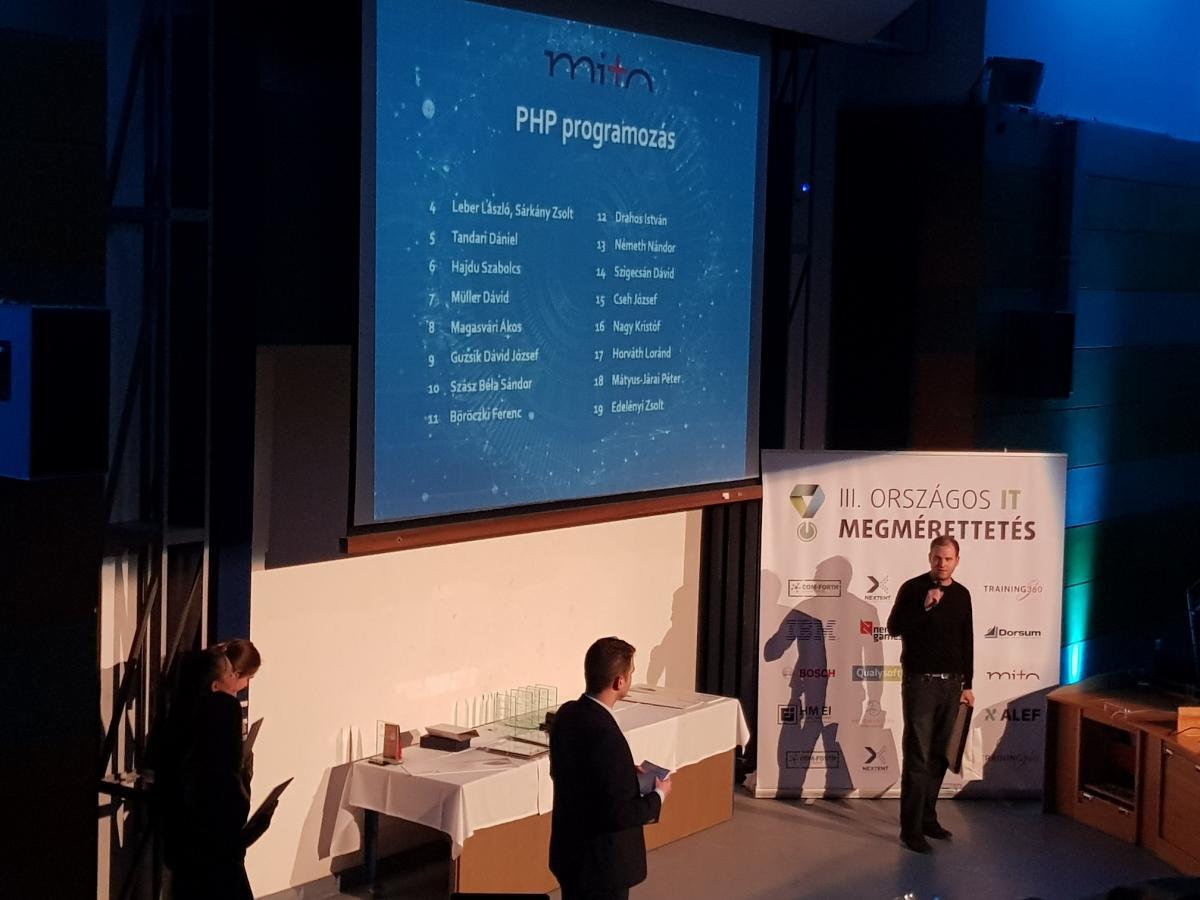 Leber László – 4. helyezés – PHP – III. országos IT megmérettetés
